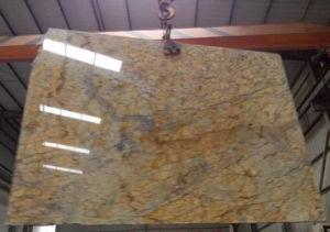Diamond Giallo Granite Slab Polished pictures & photos
