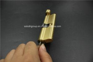 Nice Design Simple Look Golden Copper Cylinder Lock Skt-C06 pictures & photos