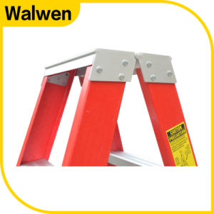5 Step Double Colorful Folding Domestic Fiberglass Step Ladder pictures & photos