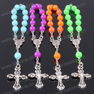 Hot Selling Fashionable Catholic Crystal Rosary Bracelet with Cross pictures & photos