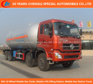 8X4 10 Wheel Mobile Gas Tanks, Mobile LPG Filling Station, Mobile Gas Station Truck pictures & photos