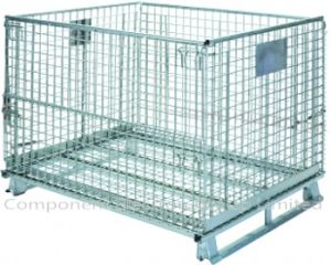 Supermarket Storage Wire Mesh Cage Mesh Container pictures & photos