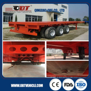 3 Axle High Bed Container Trailer for Landing Transport pictures & photos