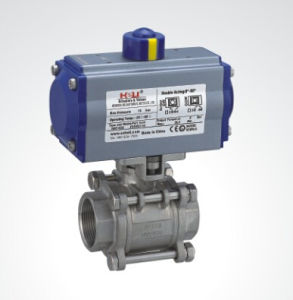Pneumatic Actuator with Thread Ball Valve pictures & photos