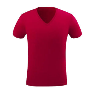 Customize Logo High Quality 100%Cotton V Neck Men T-Shirt pictures & photos