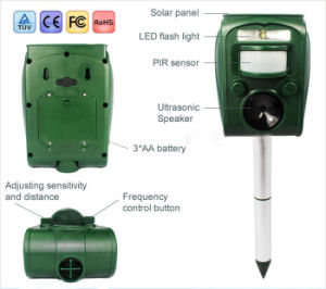 My-501 PIR Solar Ultrasonic Dogs Cats Scarer Deterrent Pest Repeller pictures & photos