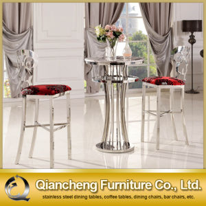 High Stool Stainless Steel Leg Fabric Bar Chair pictures & photos