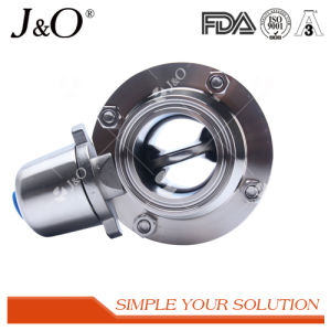Sanitary Stainless Steel Clamp Butterfly Valve with Ss Handle pictures & photos