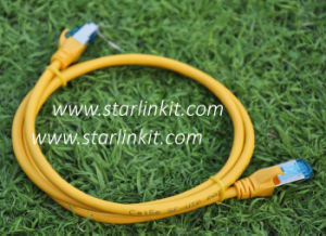 Cat5e Shielded STP Stranded Ethernet Patch Cord Cable 1m pictures & photos
