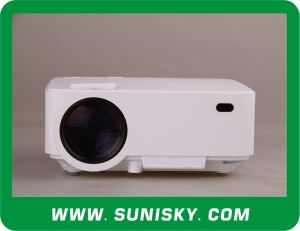 Mini Projector 1000 Lumens LCD Portable Video Projectors for Training (SMP8200B) pictures & photos