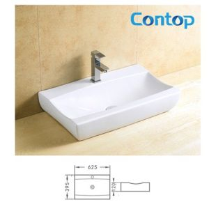 Ceramic Bathroom Cabinet Counter Top Washing Basin 8270 pictures & photos