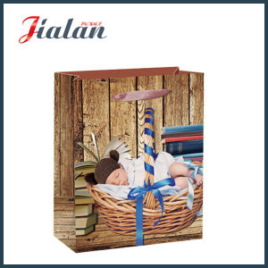 Glossy Laminated Art Paper Sleeping Baby Shopping Gift Paper Bag pictures & photos