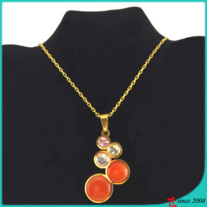Fashion Colorful Stone Stainless Steel Necklace Wholesale (FN16040902)
