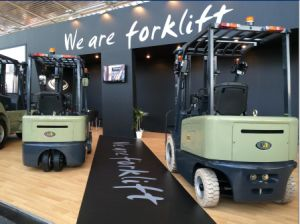 Un Brand 1.8t 3-Wheel Electric Forklift with Duplex 3.5m Mast pictures & photos