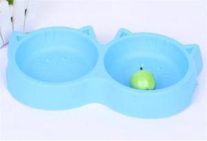 Hot Sale Fancy Design Food Grade Plastic Dog Food Bowl pictures & photos