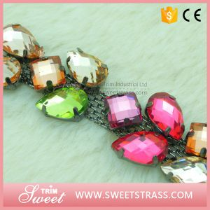 Shoes Accessories Fancy Stone Rhinestone Cup Chain pictures & photos