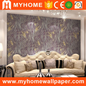 Home Decoration Embossed Vinyl Wall Paper New 2016 pictures & photos
