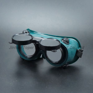 Round Lens Flip-up Front Type Welding Goggles (WG113) pictures & photos