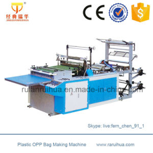 Heat Cutting Plastic Courier Bag Making Machine pictures & photos