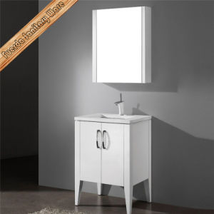 Fed-1146 Small Size Sigle Sink Stone Top Carb Wooden Modern Bathroom Cabinets pictures & photos