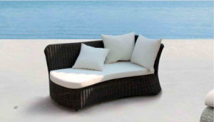 Rooftop Balcony Rattan Lying Chair Pool Lounge Bed pictures & photos