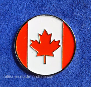 Custom Soft Enamel Canadian Golf Ball Marker