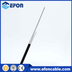 LSZH PVC Jacket FTTH Indoor Flat Drop Cable Fiber pictures & photos