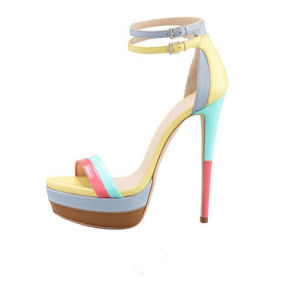 Classic Fashion High Heel Lady Platform Sandals (S35)