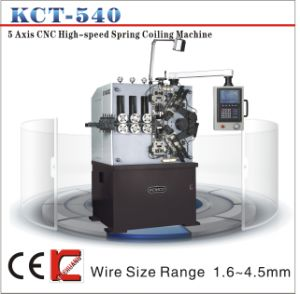 Kcmco-Kct-540 1.6-4.5mm 5 Axis CNC High Speed Compression Spring Coiling Machine&Spring Coiler pictures & photos
