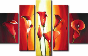 Flowers Oil Painting with Frame for Home Decoration pictures & photos