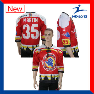 Breathable Digital Sublimation Printing Customized Team Hockey Jerseys pictures & photos