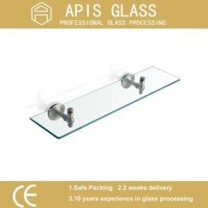 6mm 8mm 10mm 12mm Frameless Corner Shelf Tempered Glass with SGCC pictures & photos