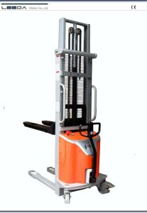 Semi-Electric Stacker with Forklift Mast (MMS SERIES) pictures & photos