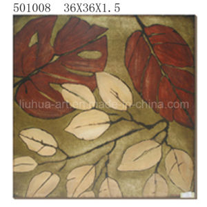 Gold Foil Leaves with Heavy Texture Modern Abstract Oil Paintings on Canvas (LH-501008) pictures & photos