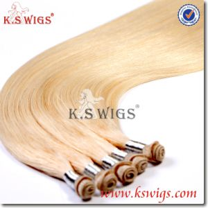 Best Handwork Hand Tied Human Hair Remy Hair Extension pictures & photos