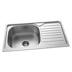 Stainless Steel Kitchen Sinks With Drainboards : China Single Drainboard Kitchen Sink Stainless Steel, Inox Sink (SD ...