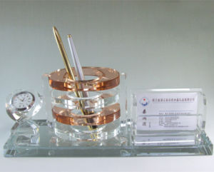 Crystal Pen Holder for Office Decoration