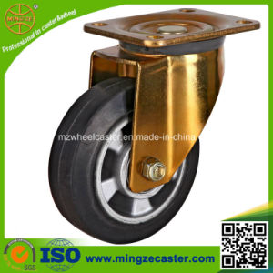 Heavy Duty Yellow Zinc Housing Elastic Rubber Wheel pictures & photos