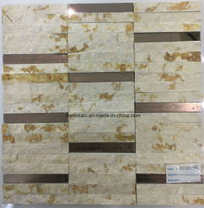 Strip Marble Mosaic Tile with Broken Surface or in and out pictures & photos