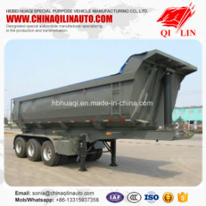 Rear Dumper Semi Trailer for Construction Materials Transport pictures & photos