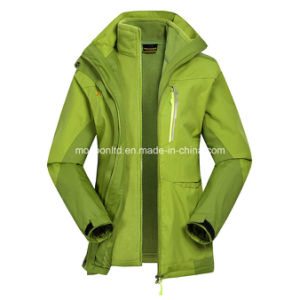 3 in 1 Lady′s Windproof Warm Mountaineering Jackets pictures & photos