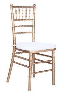 Wood Shiny Gold Chiavari Chair, Tiffany Chair with Cushion pictures & photos