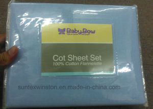 100% Cotton Printed Flannel Sheet Set pictures & photos