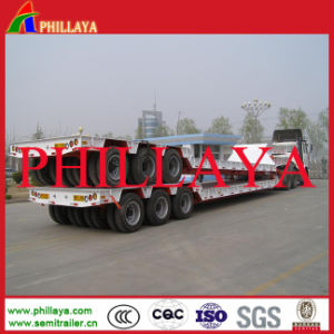 3 Axles Low Loading Deck Lowbed Trailer pictures & photos