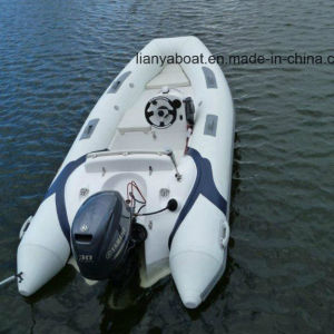Liya 3.8m Best PVC Rib Boat FRP Inflatable Boat with Motor for Sale pictures & photos
