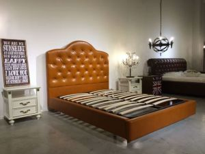 2016 Fashionable Luxury Leather Bed, Hotel Bed (LB006) pictures & photos