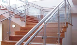 Inside Professional Design Stair Railing Glass U Channel Railing pictures & photos