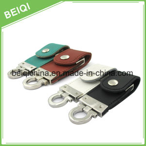 Factory Supply High Speed Gift USB Flash Drive with Leather Case pictures & photos