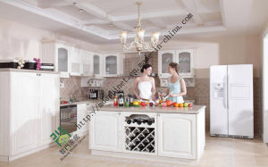 Nice Quality Oak Wooden Kitchen Cabinet with Competitive Price pictures & photos