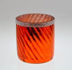 Fashion Orange Color Glass Canlde Holder pictures & photos
